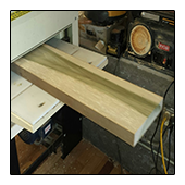Planing Poplar Board for Counter
